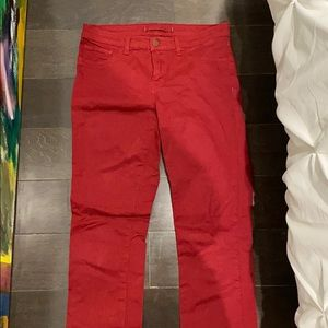 J brand skinny leg jeans (red) size 27